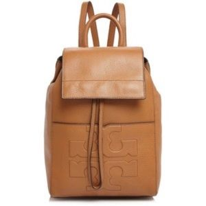 Tory Burch Bombe Cognac Leather Backpack